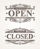 Open and Closed - ornate retro signs