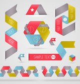 Abstract ribbon color shapes and elements for infographics - vector illustration