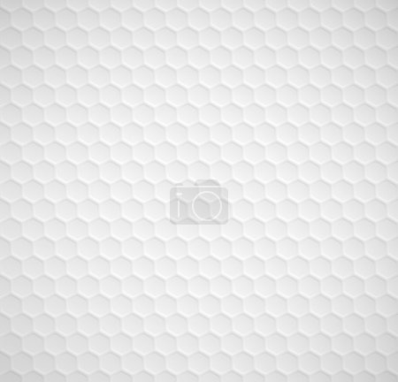 Illustration for Vector hexagons seamless white background - Royalty Free Image