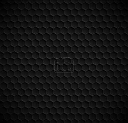 Vector hexagons seamless black background