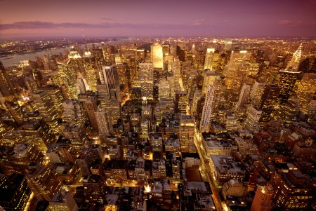 Photo for Big Apple after sunset - new york manhattan at night - Royalty Free Image