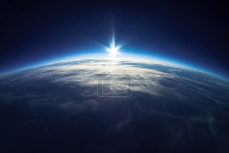 Earth from universe (taken 20km above ground) Real photo