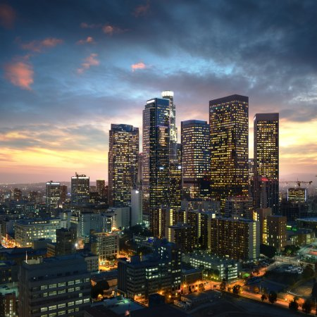 Photo for Los Angeles downtown at sunset, California - Royalty Free Image