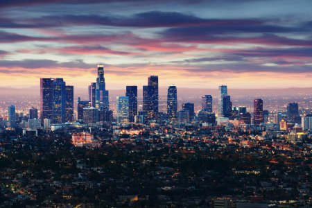 Photo for Los Angeles - California City Skyline - Royalty Free Image