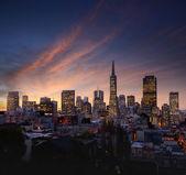 San Francisco skyline after sunset