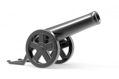 Cannon on a white background...