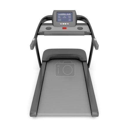 Treadmill machine on white