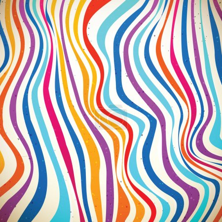 Illustration for Colorful striped background - Royalty Free Image