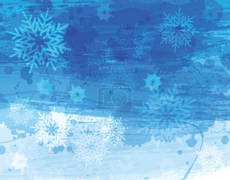 Blue christmas watercolor background