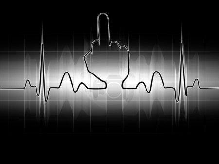 cardiogram Middle finger Sign
