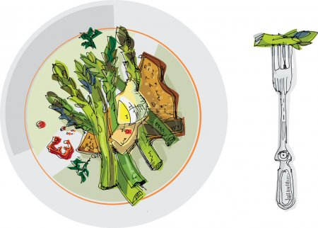 Stil life with asparagus