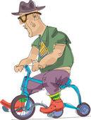 Metrosexuál osoba jedoucí na kole - kreslený