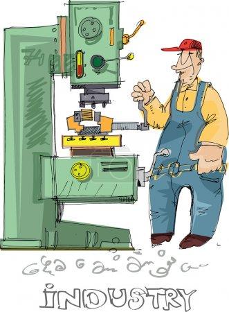 Metalworking - cartoon