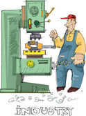 Metalworking - cartoon