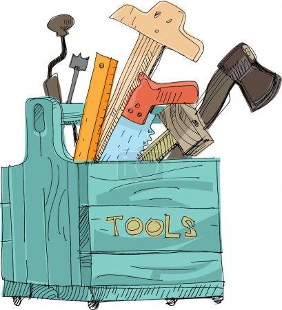 Illustration for Toolbox - cartoon - Royalty Free Image