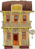 Vintage american saloon - cartoon