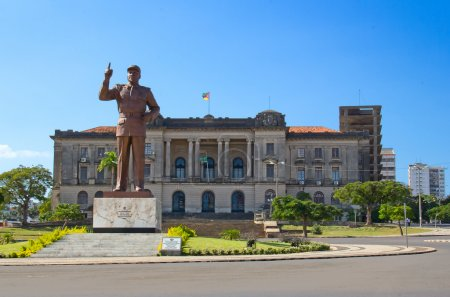 City hall and statue of Michel Samora in Maputo, M...