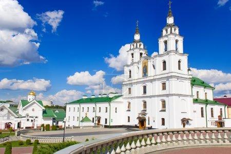 Photo pour Principale église orthodoxe de Biélorussie - Cathédrale du Saint-Esprit à Minsk . - image libre de droit