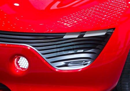 Photo pour Le concept-car futuriste exposé - image libre de droit