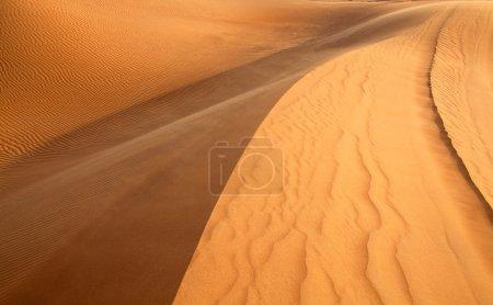 "Photo for Red sand ""Arabian desert"" near Dubai, United Arab Emirates - Royalty Free Image"
