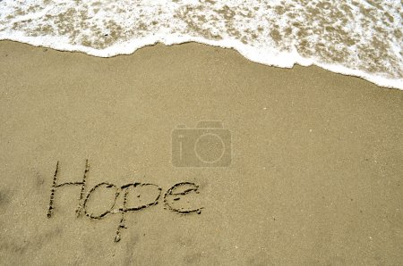 Photo for Hope in the sand - Royalty Free Image