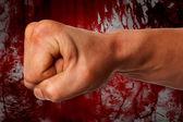 Karate Power Fist Background.