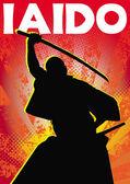 Martial arts poster iaido,kendo, sword katana poster