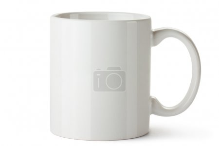 Photo for White ceramic mug. Isolated on a white. - Royalty Free Image
