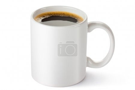 Photo for White ceramic coffee mug. Isolated on a white. - Royalty Free Image