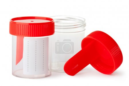 Two medical containers for biomaterial