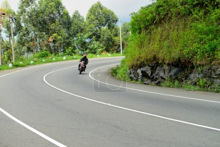 motorcyclist on the road