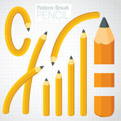 Pencil illustrator pattern brush