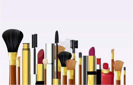 Illustration pour Des outils cosmétiques. Vecteur . - image libre de droit