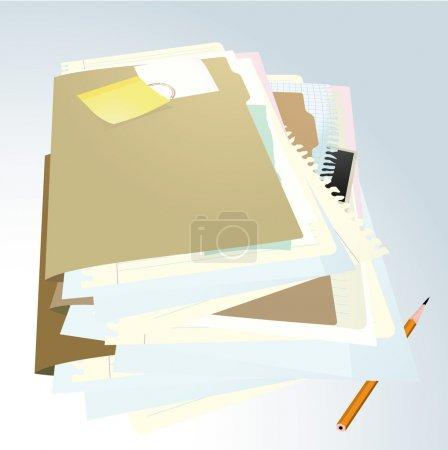 Illustration for Documents folder . Vector illustration. - Royalty Free Image