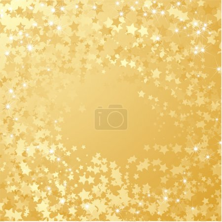 Illustration for Gold star background. Vector - Royalty Free Image
