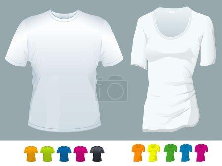 Ilustración de Plantillas de vectores camiseta. - Imagen libre de derechos
