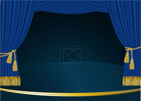 cortina azul