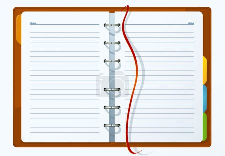 Diary. Vector.