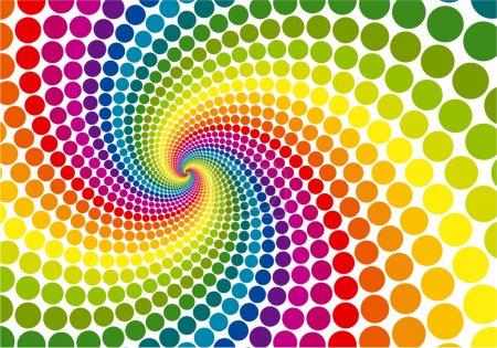 Illustration pour Arrière-plan vectoriel tourbillon arc-en-ciel . - image libre de droit
