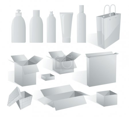 White package templates to put your design on.