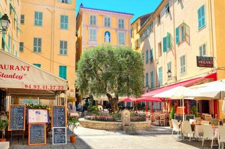 Restaurants and bars in Menton, France.