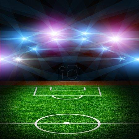 Photo pour Le terrain de football . - image libre de droit