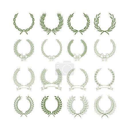 Illustration for Set of laurel wreaths - Royalty Free Image
