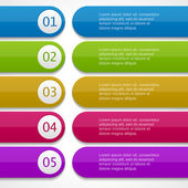 Lines and numbers website design elements eps 10