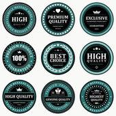 Vintage labels set Vector design elements