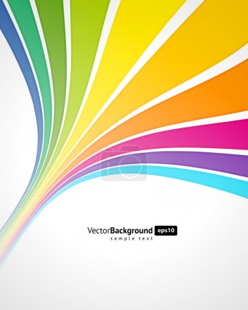 Illustration for Abstract rainbow background - Royalty Free Image