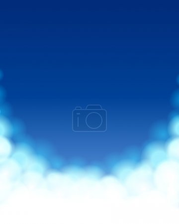 Sky with clouds vector background