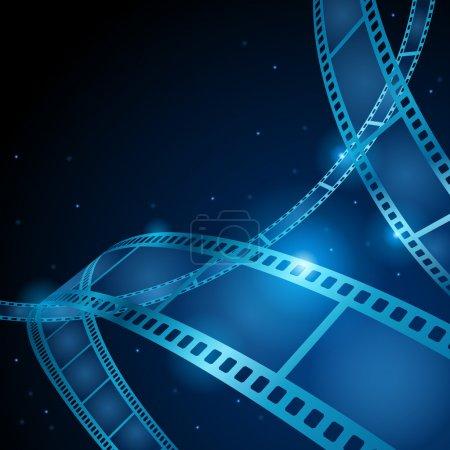 Illustration pour Film bande vectorielle fond - image libre de droit