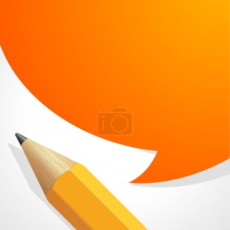 Pencil with speech bubble vector background. Eps 10.