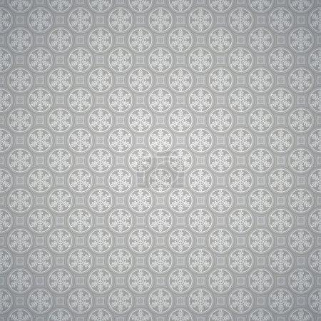Winter snowflake pattern on gray background